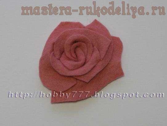 Мастер-класс: Цветок из фетра