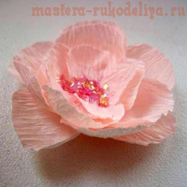 Мастер-класс: Цветы из гофрированной бумаги