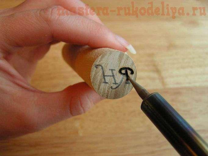 Мастер-класс: Деревянная печать для воска