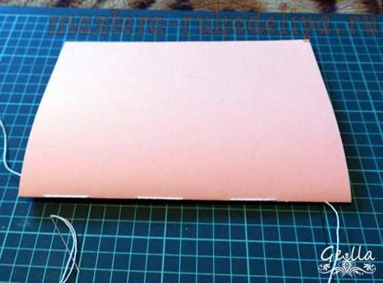 Мастер-класс по декупажу: Блокнот и «акварельная» подрисовка