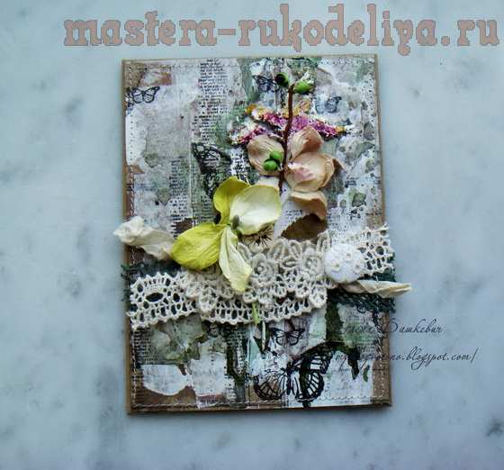 Мастер-класс по скрапбукингу: Блокнотик с сухоцветами