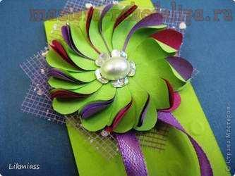 Мастер-класс по скрапбукингу: Цветок в стиле Диско