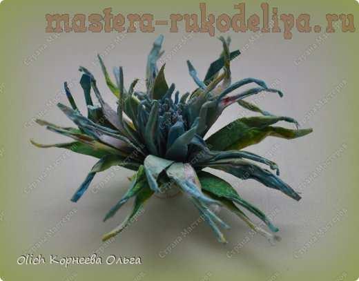 Мастер-класс по скрапбукингу: Игольчатые хризантемы