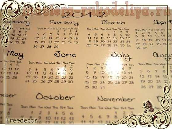 Мастер-класс по скрапбукингу: Календарь на год