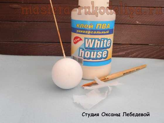 Мастер-класс по декупажу на пластике: Ёлочный шарик