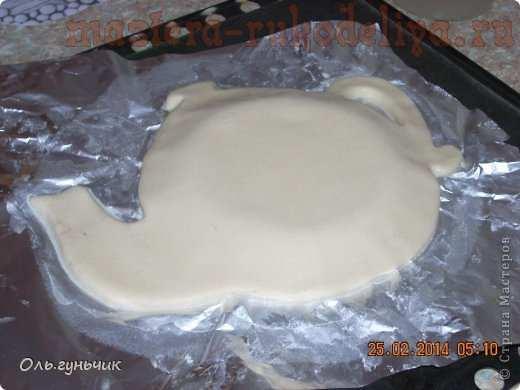 Мастер-класс по лепке из соленого теста: Чайник с чашечками