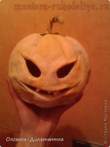 Мастер-класс по лепке из соленого теста: Хэллоуинские ночники-тыквы