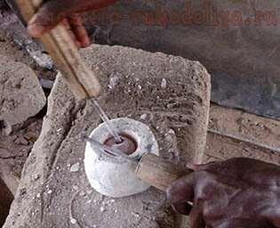 Африканские бусины из бутылочного стекла