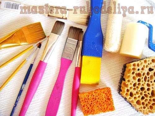Выбор инструментов для нанесения красок и лаков