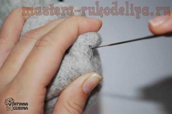 Мастер-класс по сухому валянию игрушек: Ёжик Филипок