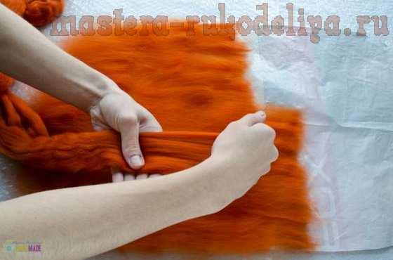 Мастер-класс по мокрому валянию: Игрушка-подушка; Котэ.