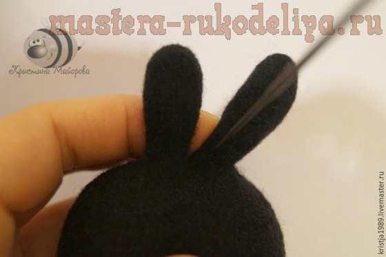 Мастер-класс по сухому валянию: Карманный кролик