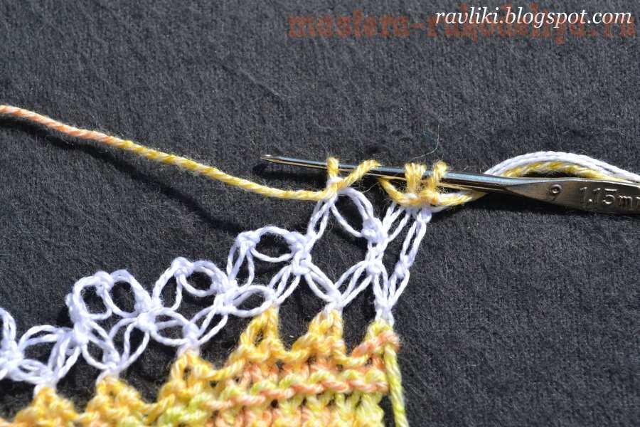 Вязание крючком: Ажурный бактус