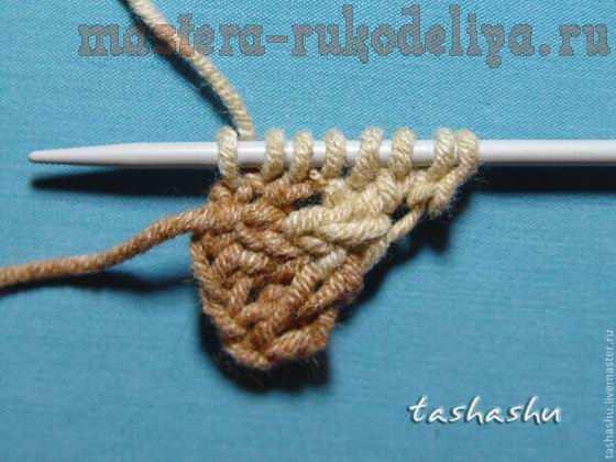 Мастер-класс по вязанию спицами: Вязаный бактус Гребень Ехо