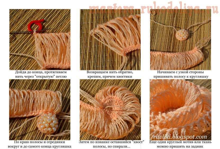 Мастер-класс по вязанию: Вязание броши на вилке