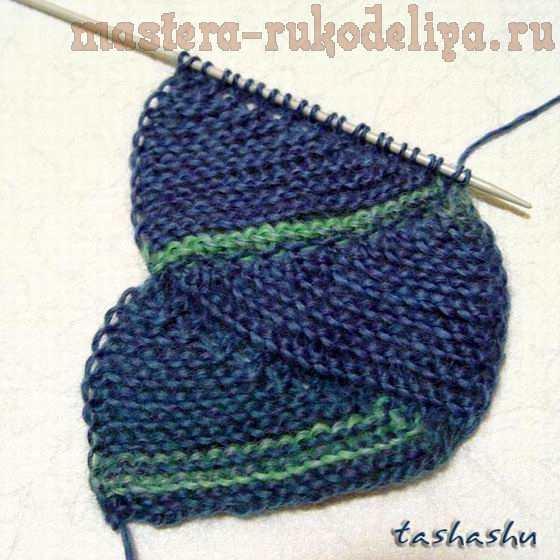 Мастер-класс по вязанию спицами: Вязание чешуи