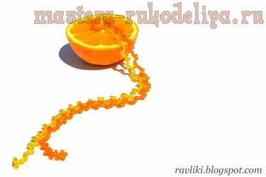 Вязание крючком: Цитрусовые спиральки