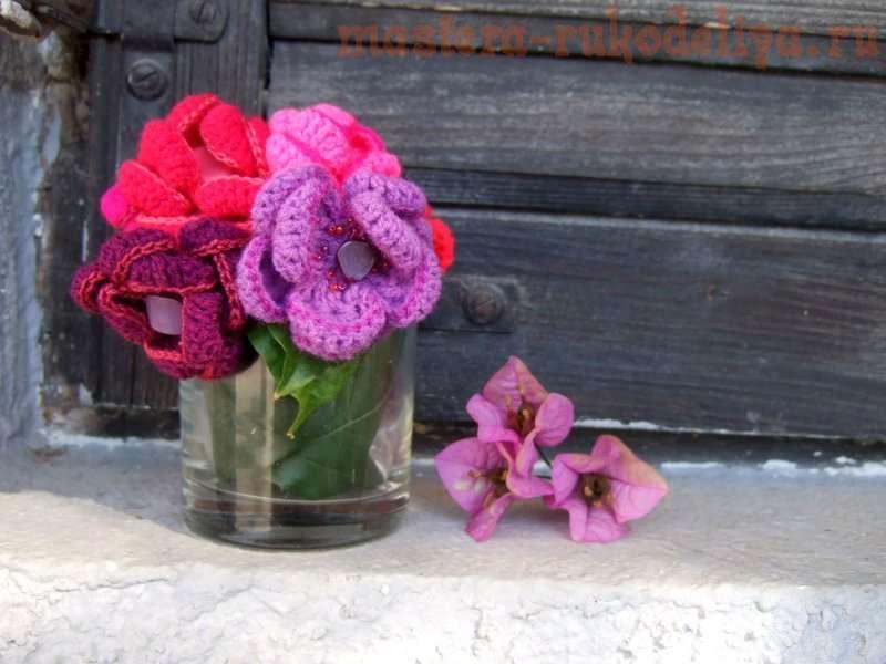 Мастер-класс: Цветы на резинке