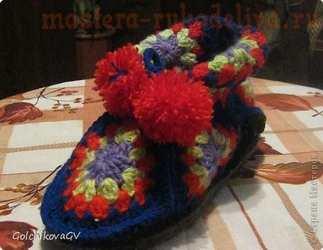 Мастер-класс по вязанию крючком: Домашние ботиночки
