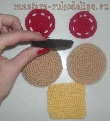 Мастер-класс по вязанию: Гамбургер связанный крючком