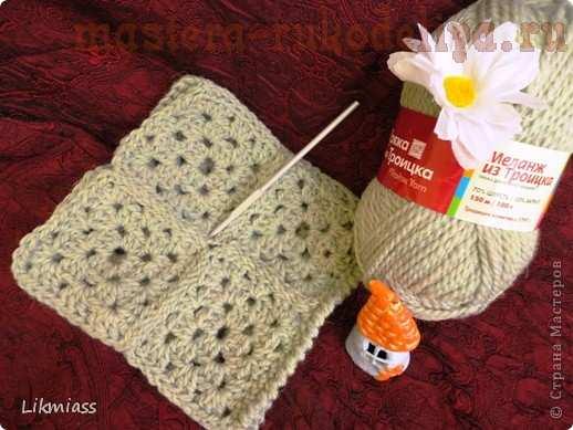 Мастер-класс по вязанию крючком: Гетры узором; бабушкин квадрат.