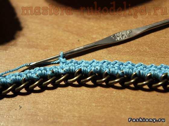 Мастер-класс по вязанию крючком: Колье из цепи