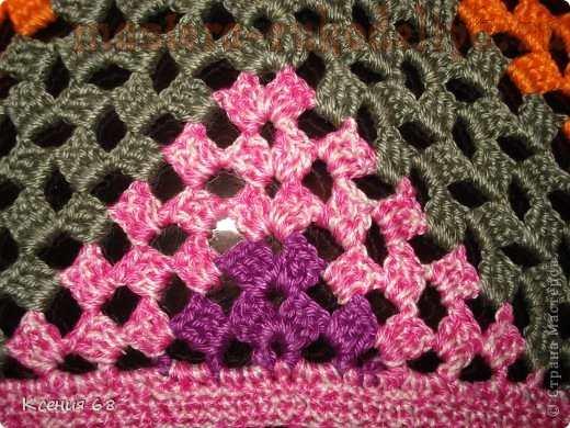 вязание крючком косынка