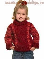 Схема вязания спицами: Детский мохеровый свитер