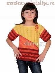 Схема вязания спицами: Кофта для девочки