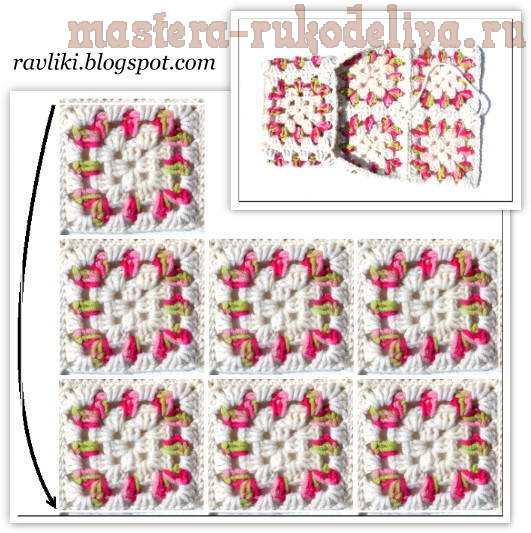 вязание крючком тапочки из бабушкиных квадратов