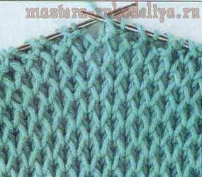 схема узора для вязания спицами 6 сетчатый патентный узор
