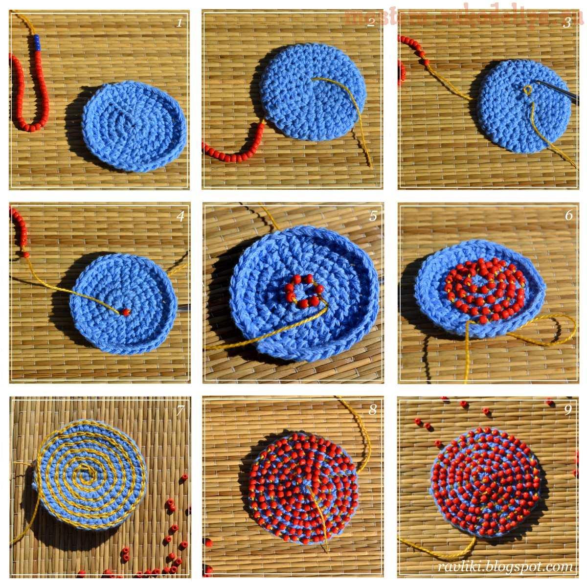 мастер класс по вязанию вяжем вышивая с бисером