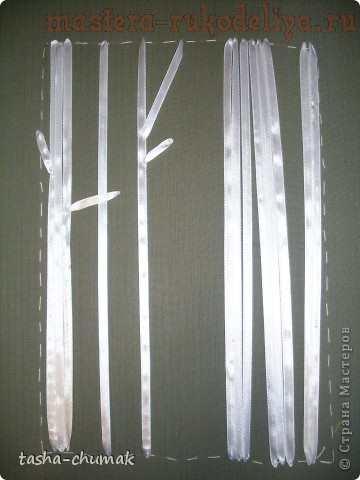 Мастер-класс по вышивке лентами: Березовая роща
