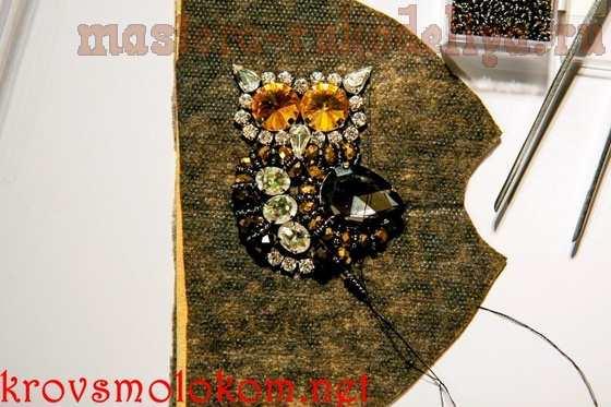 Мастер-класс по вышивке бисером: Брошь; Сова.