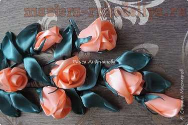 Мастер-класс по вышивке лентами: Бутоны роз атласными лентами