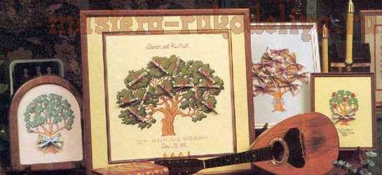 Схема для вышивки крестом: Денежное дерево
