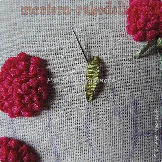 Мастер-класс по вышивке лентами: Грелка для чайника; Малина.