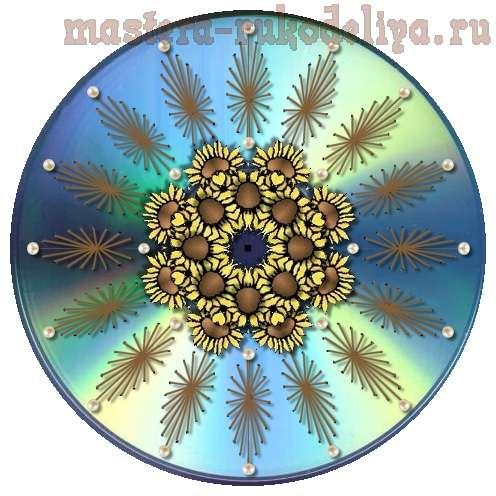 Изонить: Схема для вышивки на CD-диске
