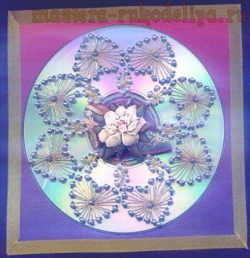 Изонить: Схема для вышивки на CD-диске 4