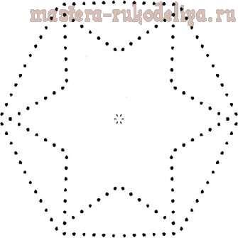 Изонить: Схема для вышивки на CD-диске 25