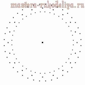 Изонить: Схема для вышивки на CD-диске 27
