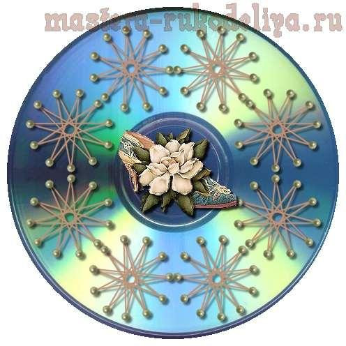Изонить: Схема для вышивки на CD-диске 30