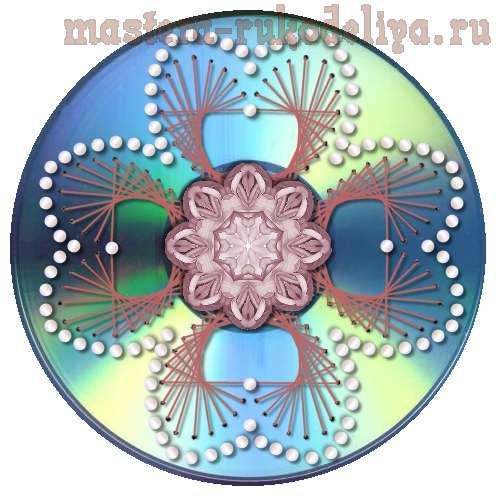 Изонить: Схема для вышивки на CD-диске 32