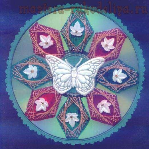 Изонить: Схема для вышивки на CD-диске 7