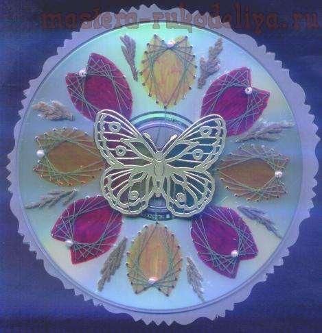 Изонить: Схема для вышивки на CD-диске 8