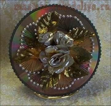 Изонить: Схема для вышивки на CD-диске 12