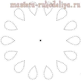 Изонить: Схема для вышивки на CD-диске 17