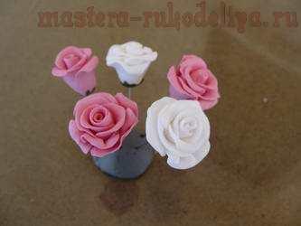 Мастер-класс по лепке из холодного фарфора: Миниатюрные розочки