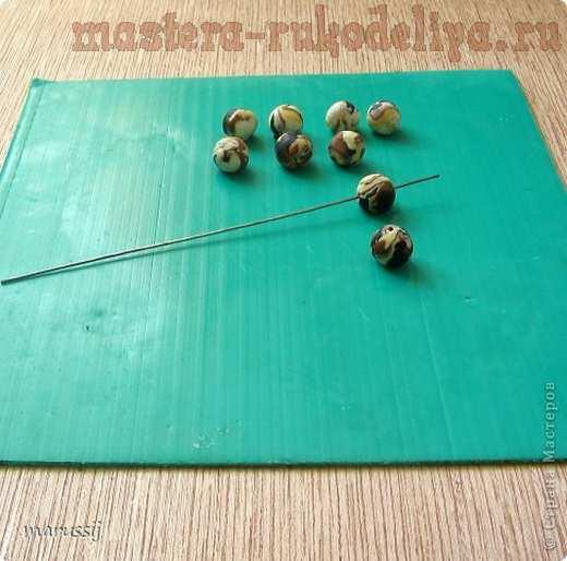 Мастер-класс по лепке из холодного фарфора; Каменные; бусины