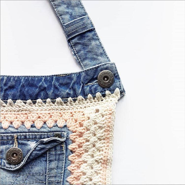 Комбинезон из старых джинсов